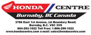 The Honda Centre Logo with address